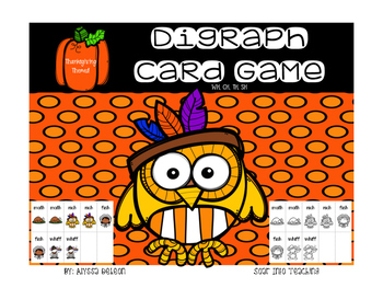 Digraph Playing Cards {Thanksgiving Themed}