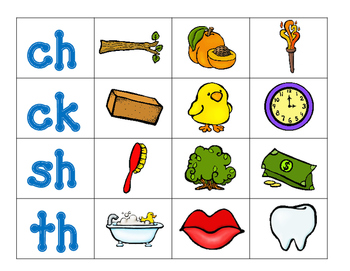 Digraph Pocket Chart Center:  Beginning and Ending Digraphs