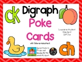 Digraph Poke Cards ( ck, ch) with exit ticket