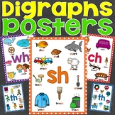 Digraph Posters (Beginning and Ending) for sh, th, ch, wh