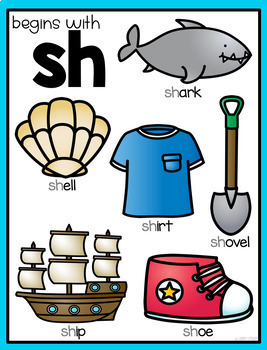 Digraph Posters (Ch, Sh, Th, Wh)
