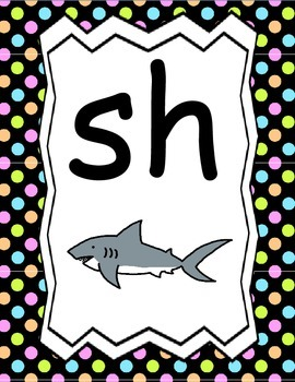 Digraph Posters: Includes Teaching Strategies, 13 Posters and Digraph Word Lists