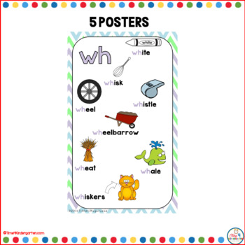 Digraph Posters Spring Chevron