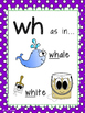 Digraph Posters + Word Lists - th, sh, ch, wh, qu, ck.
