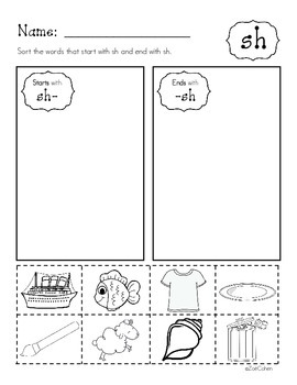 Digraph Practice Pages