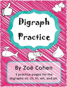 Digraph Practice Page Freebie