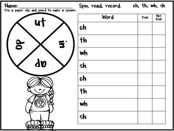 Digraph Practice in a Pinch {Printables for Consonant Digraph Real & Nonsense}