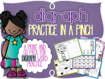 Digraph Practice in a Pinch {Printables for Consonant Digr