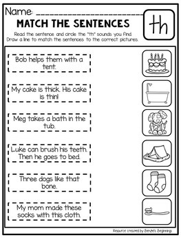 Digraph Printables - th, sh and ch!