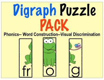 Digraph Puzzle Pack, Center and Booklet!