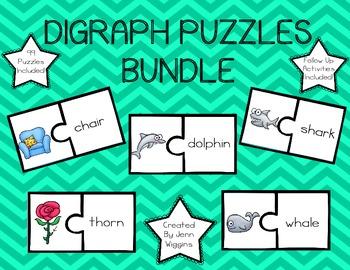 Digraph Puzzles Bundle - 129 Puzzles Plus Follow Up Activities!