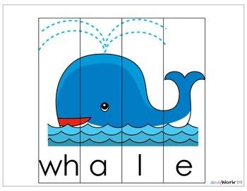 Digraph Puzzles for Prek-1st Grades