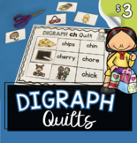 Digraph Quilts - Cut and Paste Activity Literacy Center -