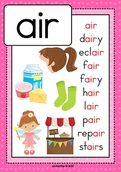 Digraph / R-Controlled Vowel AIR: Phonics Word Work {Multiple Phonograms}