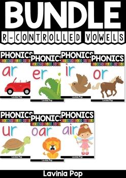 Digraph / R-Controlled Vowel BUNDLE: AR, ER, IR, OR, UR Word Work {Multiple Phon