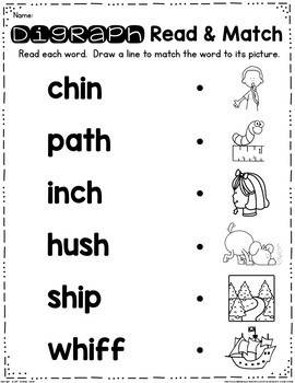 Digraph Read and Clip Cards