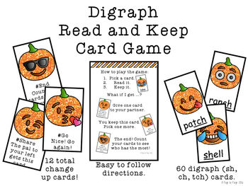 Digraph Read and Keep Card Game - Aligns with Adventures of the Superkids Unit 1