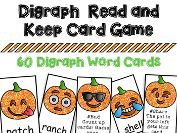 Digraph Read and Keep Card Game - Aligns with Adventures o