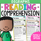 Digraph Reading Passages - Comprehension - PAPER & DIGITAL Distance Learning