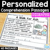 Digraph Reading Passages: PERSONALIZED Comprehension with Class Sets!