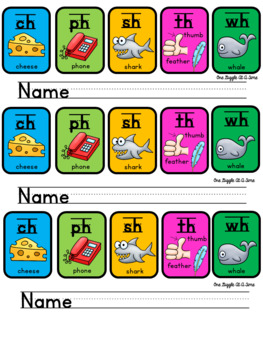 Digraph Reference Signs FREEBIE