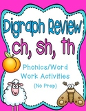 Digraph Review: Ch, Sh, Th