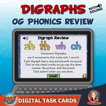 Digraph Review Digital Task Cards