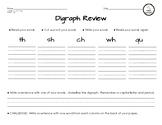 Digraph Review Word Sort