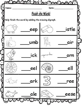 digraph review worksheets by kindergarten swag tpt. Black Bedroom Furniture Sets. Home Design Ideas