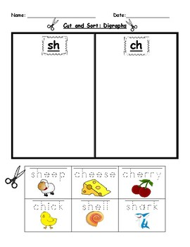 Digraph Review Worksheets