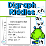 Consonant Digraph Riddle Activities   Phonics and Vocabulary