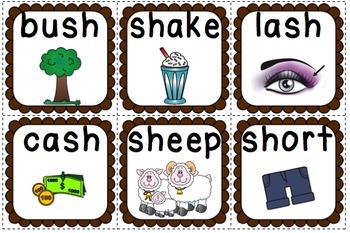Digraph SH Flashcard Game