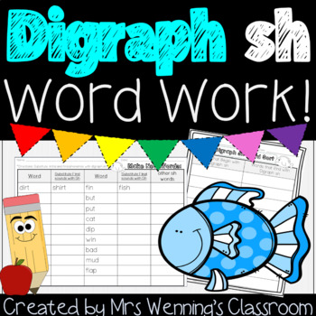 Digraph sh - A Week of Lesson Plans, Activities, and Word Work!
