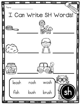 Digraph SH Phonics Practice Printables and Activities ...