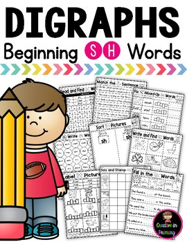 Digraph SH Practice and Worksheets (Beginning)