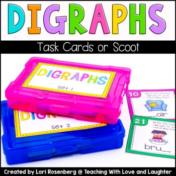 Digraph Scoot or Task Cards