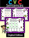 CVC Sentences Level 1 Unit 2 for Google Slides