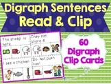 Digraph Sentences Read & Clip Cards