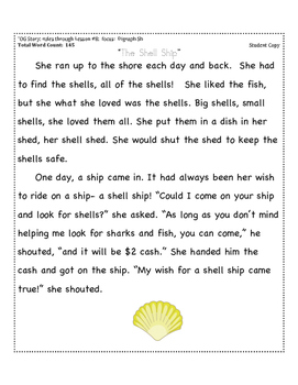 Digraph Sh Decodable Passage +  Running Record Form