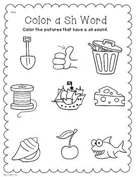 Digraph Sh: Phonics/Word Work Activities