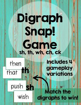 Digraph Snap! Card Game