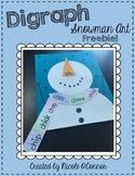 Digraph Snowman Art Project Freebie!