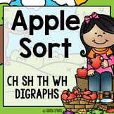 Digraph Sort - Apple Theme (Ch, Sh, Th, Wh)