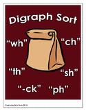 Digraph Sort - Brown Paper Bag Activity
