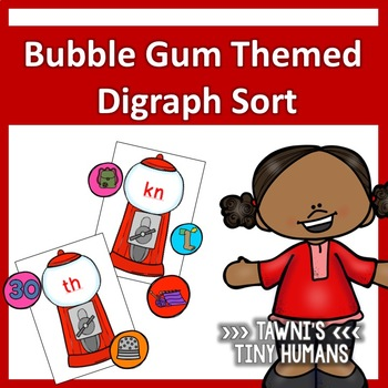 Digraph Sort - Bubble Gum Themed