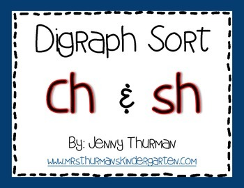 "Digraph Sort: ""Ch"" and ""Sh"""
