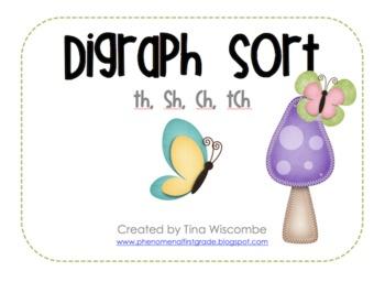 Digraph Sort- th, sh, ch, tch