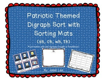 Digraph Sort with Patriotic Theme (sh, ch, th, wh)