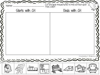 Digraph Sorting Worksheets