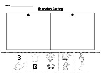Digraph Sorting (th and sh)